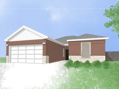 New home in Dallas, Texas (digital drawing)