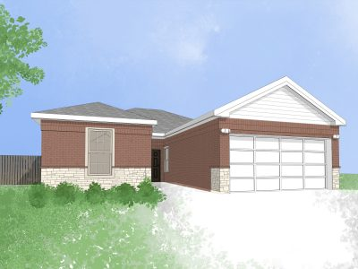 New home in Waxahachie, Texas (digital drawing)
