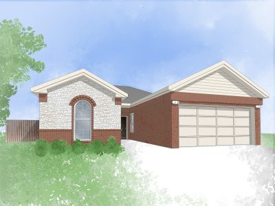 Digital drawing of Camden Home single family home