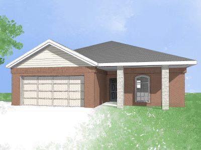 Digital drawing of Camden Home new house