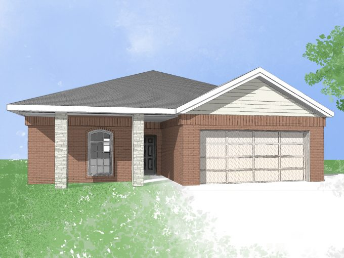 Digital drawing of Camden Home new build house Dallas, Texas
