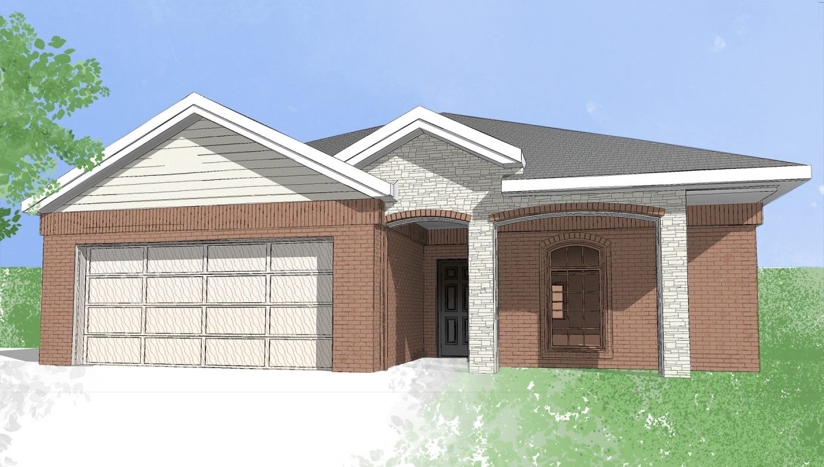 Digital drawing of Camden Home new construction home