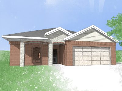 Digital drawing of Camden Home new build house