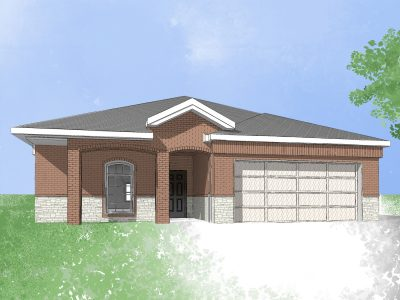 Digital drawing of new build home