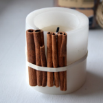 Cinnamon candle decor