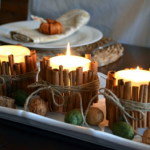 DIY fall candle decorations