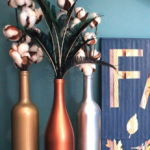 Wine bottle fall decor